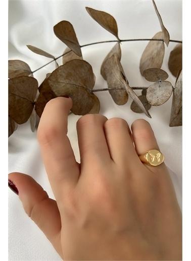 My Joyas Design Kelebek Serçe Parmak Yüzüğü Altın